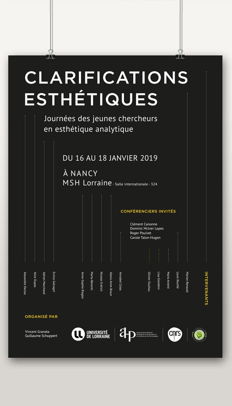 Léa Candat _ Graphiste - Webdesigner _ Nancy _ Projets _ Graphisme _ Affiche _ Clarifications esthétiques
