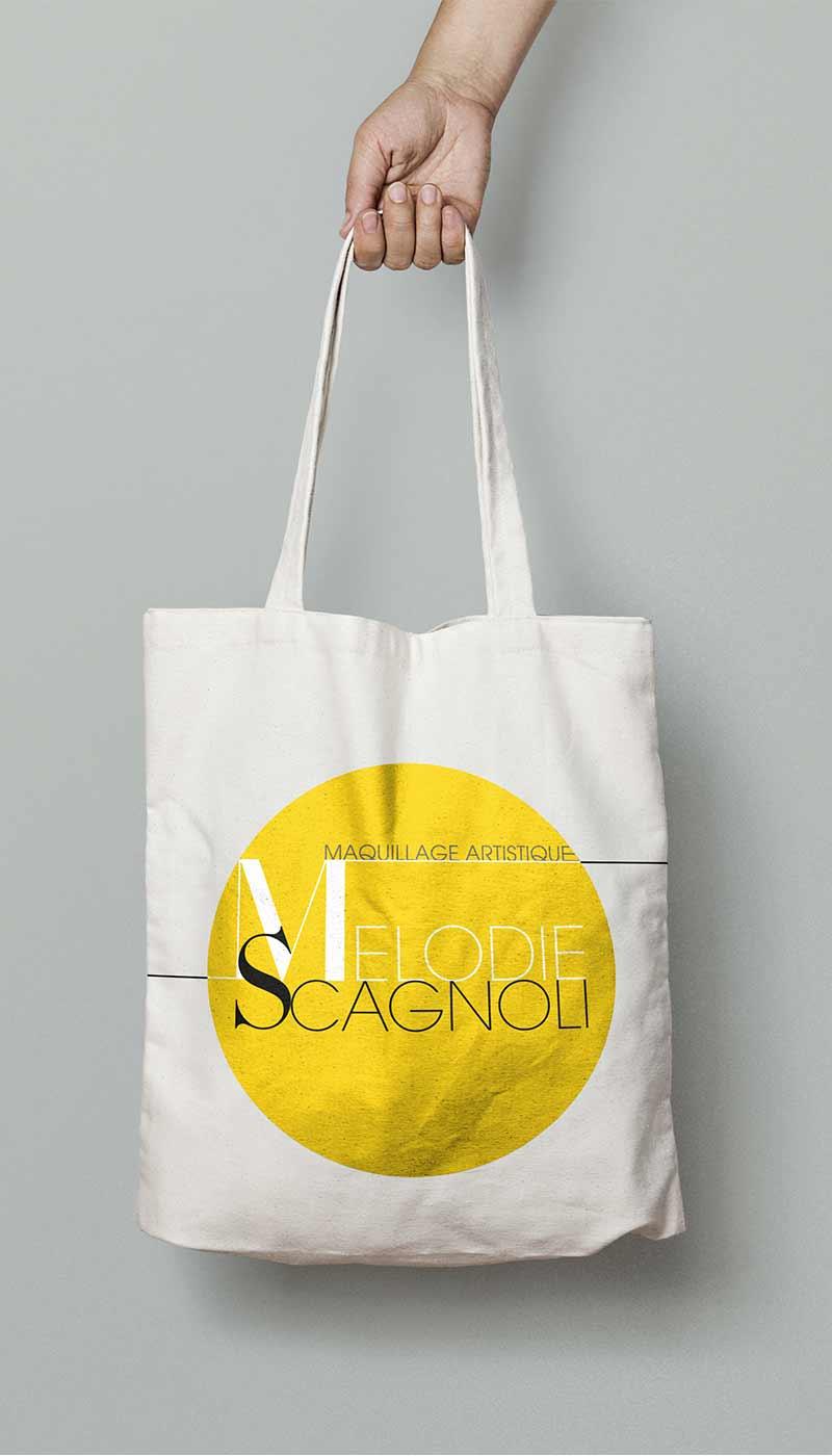 Léa Candat _ Graphiste - Webdesigner _ Nancy _ Projets _ Graphisme _ Logo _ Mélodie Scagnoli