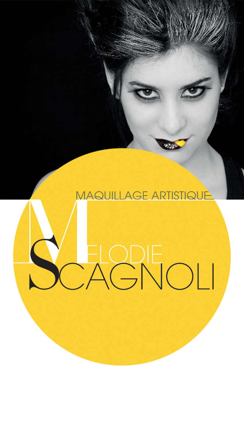 Léa Candat _ Graphiste - Webdesigner _ Nancy _ Projets _ Graphisme _ Carte de visite _ Mélodie Scagnoli
