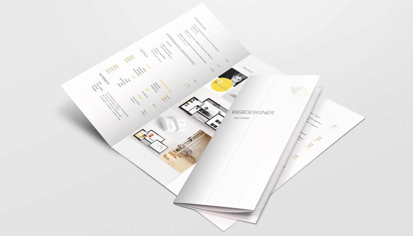 Léa Candat _ Graphiste - Webdesigner _ Nancy _ Projets _ Graphisme _ Curriculum vitae _ Léa Candat