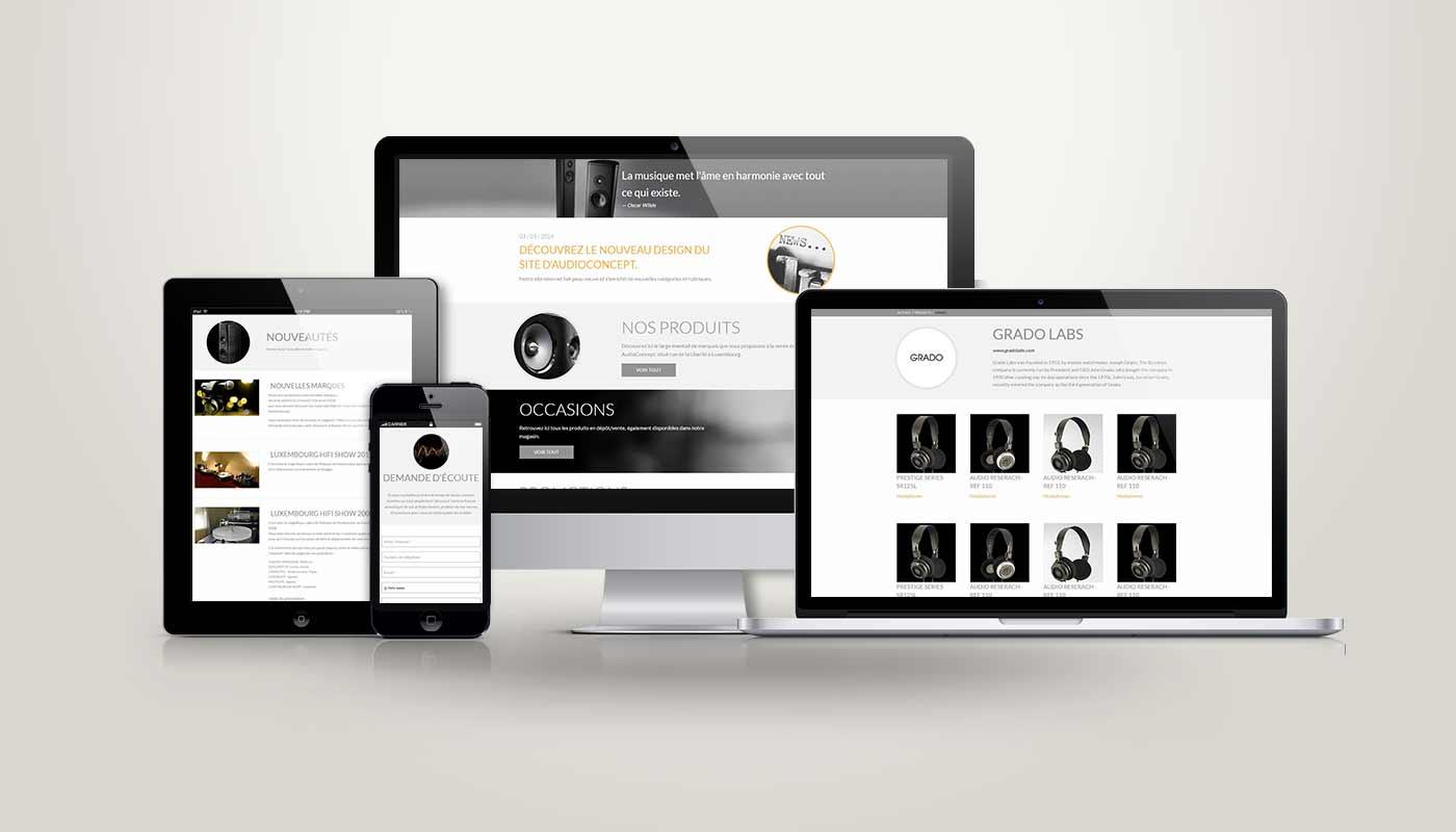 Léa Candat _ Graphiste - Webdesigner _ Nancy _ Projets _ Web _ Site _ Audioconcept