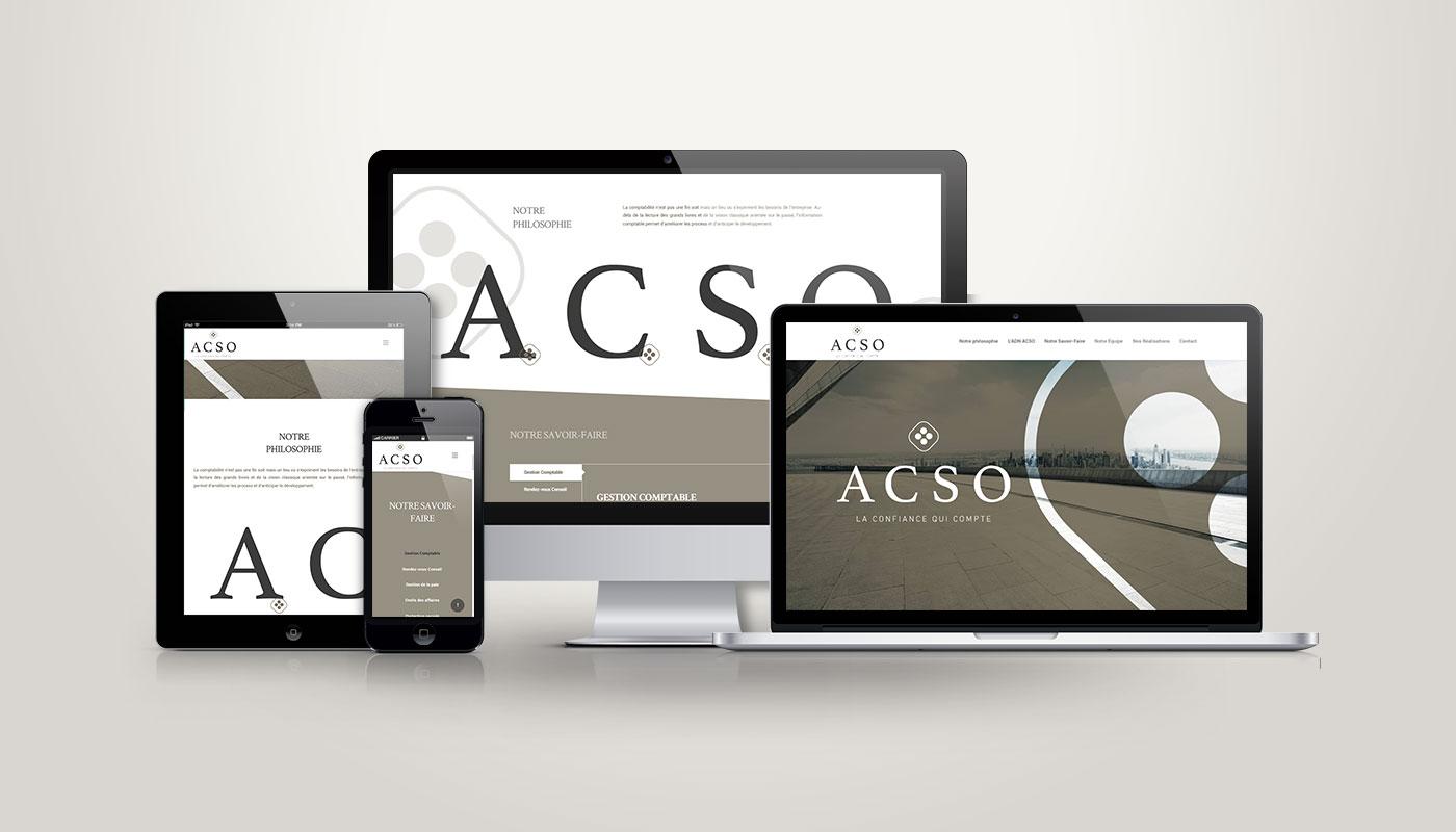 Léa Candat _ Graphiste - Webdesigner _ Nancy _ Projets _ Web _ Site _ ACSO