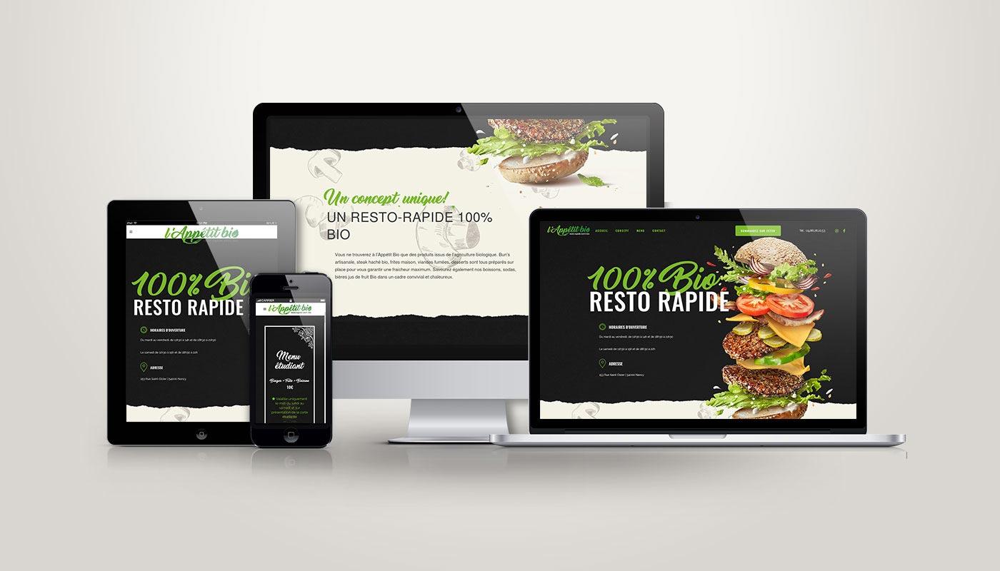 Léa Candat _ Graphiste - Webdesigner _ Nancy _ Projets _ Web _ Site _ Appétit Bio