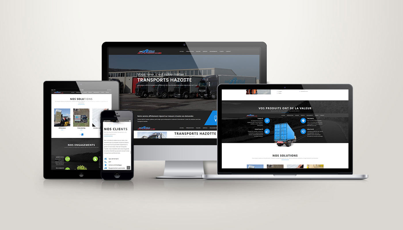 Léa Candat _ Graphiste - Webdesigner _ Nancy _ Projets _ Web _ Site _ Transports Hazotte
