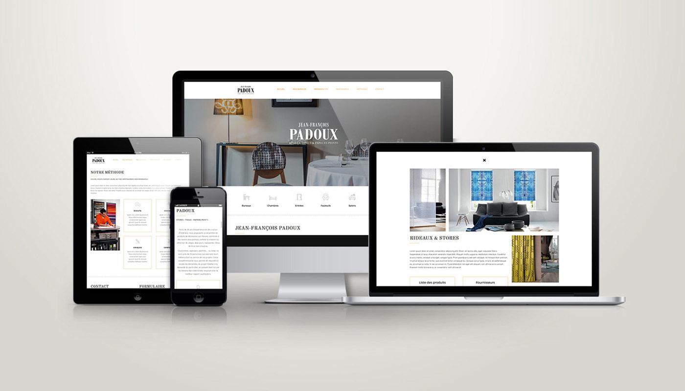 Léa Candat _ Graphiste - Webdesigner _ Nancy _ Projets _ Web _ Site _ Jean-François Padoux