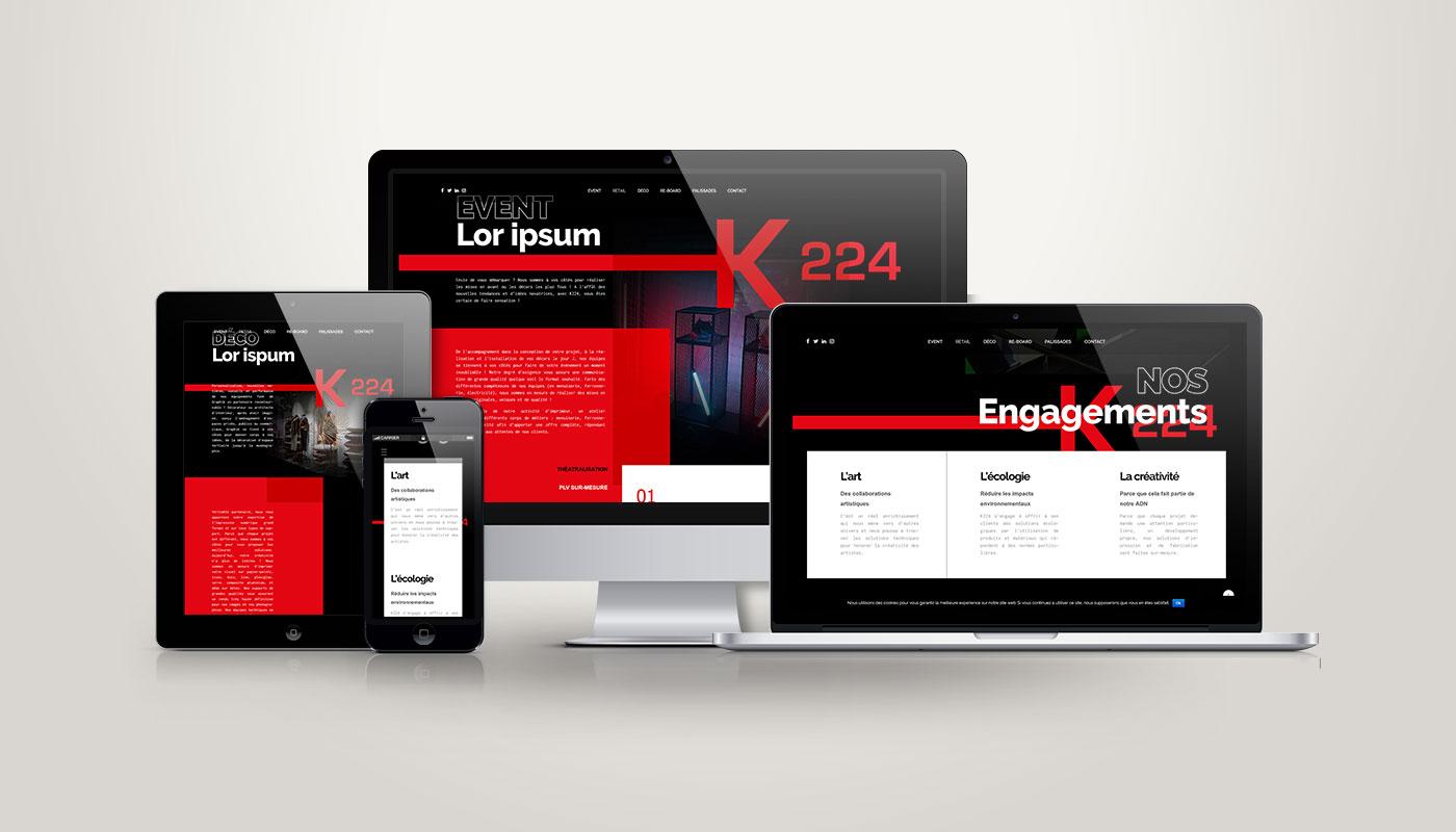 Léa Candat _ Graphiste - Webdesigner _ Nancy _ Projets _ Web _ Site _ K224