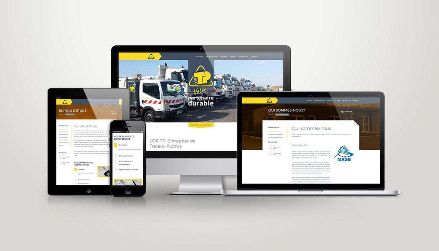 Léa Candat _ Graphiste - Webdesigner _ Nancy _ Projets _ Web _ Site _ LorTP