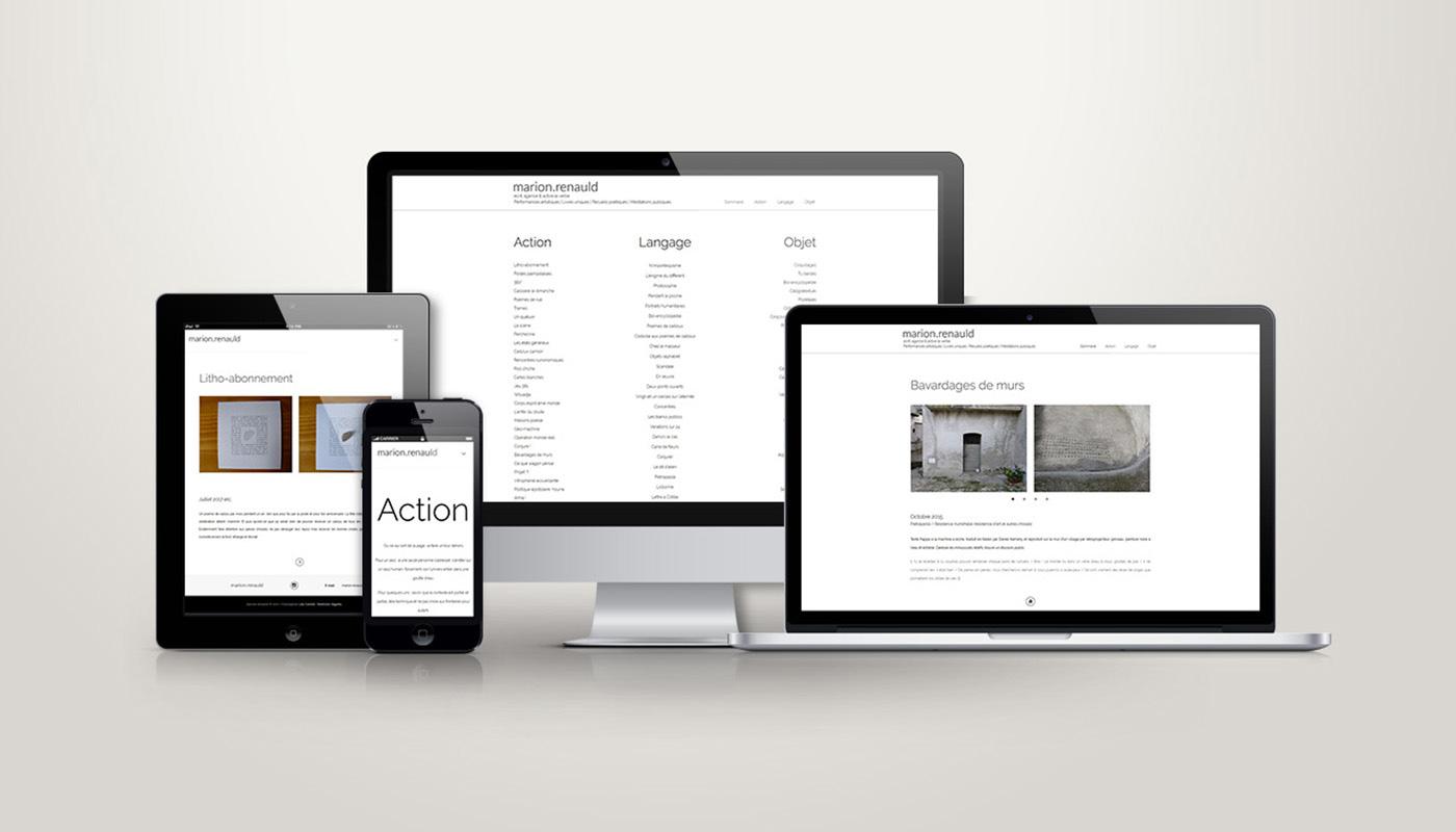 Léa Candat _ Graphiste - Webdesigner _ Nancy _ Projets _ Web _ Site _ Marion Renauld