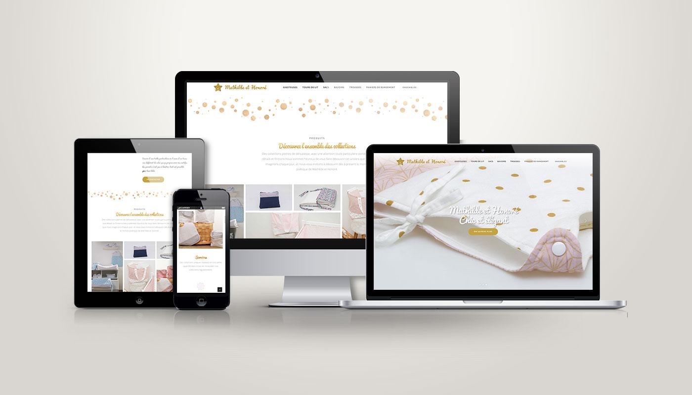 Léa Candat _ Graphiste - Webdesigner _ Nancy _ Projets _ Web _ Site _ Mathilde et Honoré
