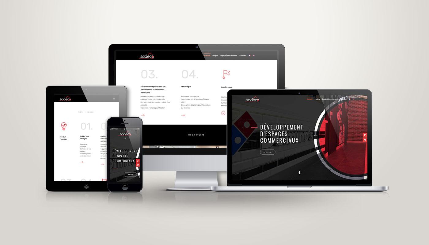 Léa Candat _ Graphiste - Webdesigner _ Nancy _ Projets _ Web _ Site _ Sadeco