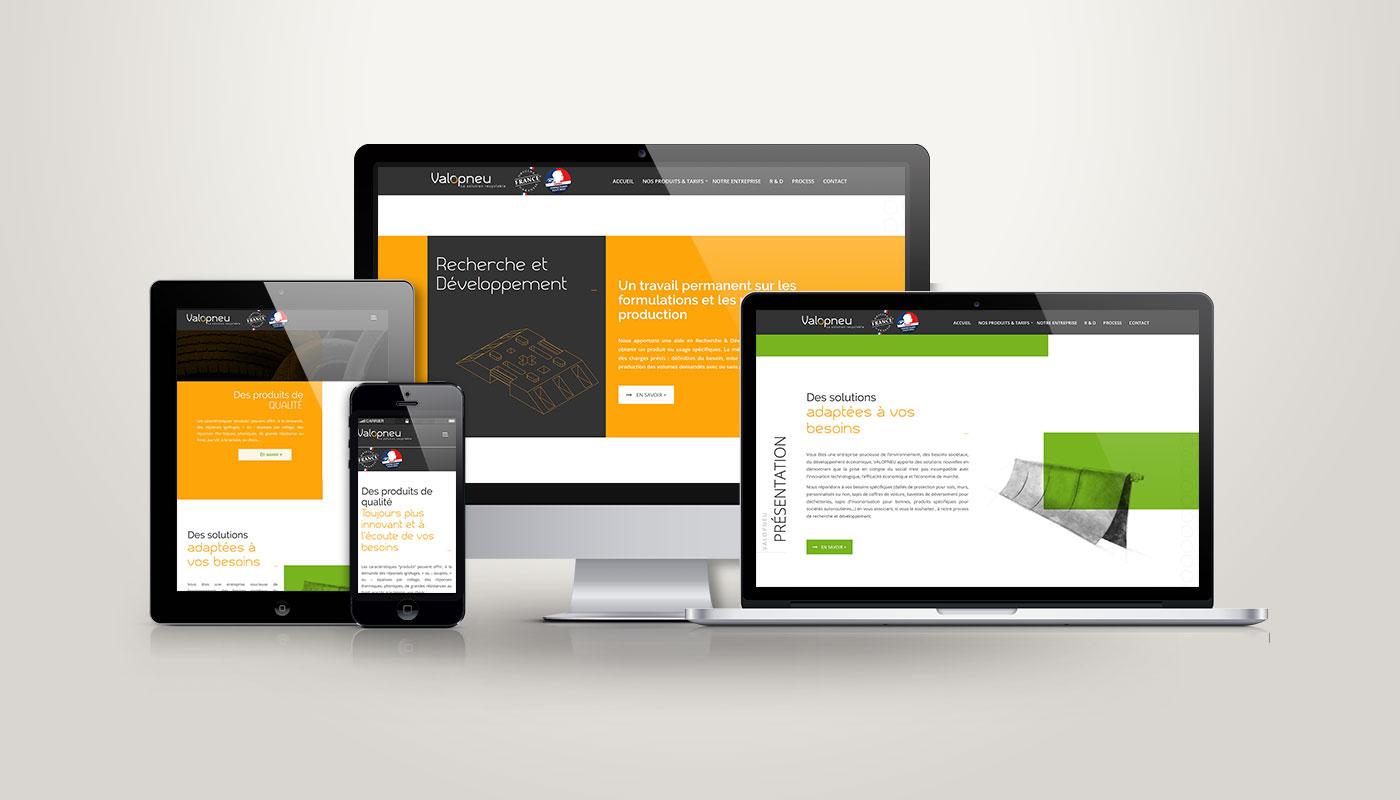Léa Candat _ Graphiste - Webdesigner _ Nancy _ Projets _ Web _ Site _ Valopneu