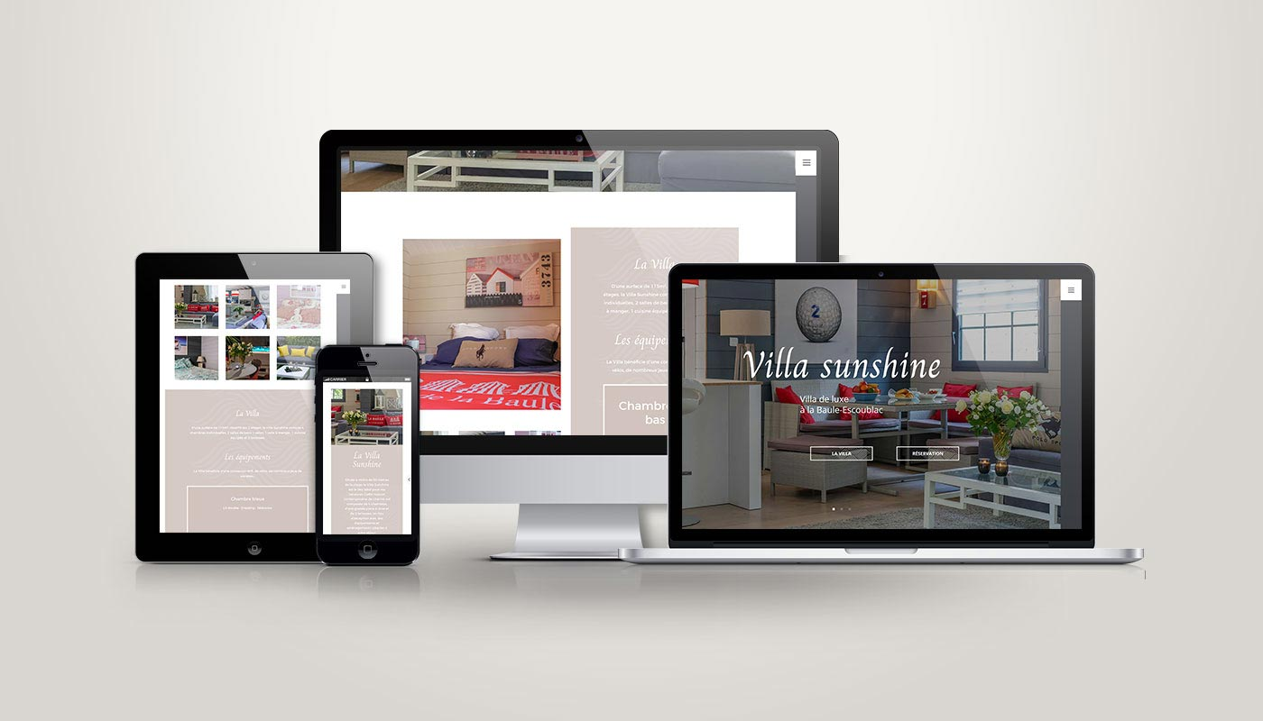 Léa Candat _ Graphiste - Webdesigner _ Nancy _ Projets _ Web _ Site _ Villa Sunshine
