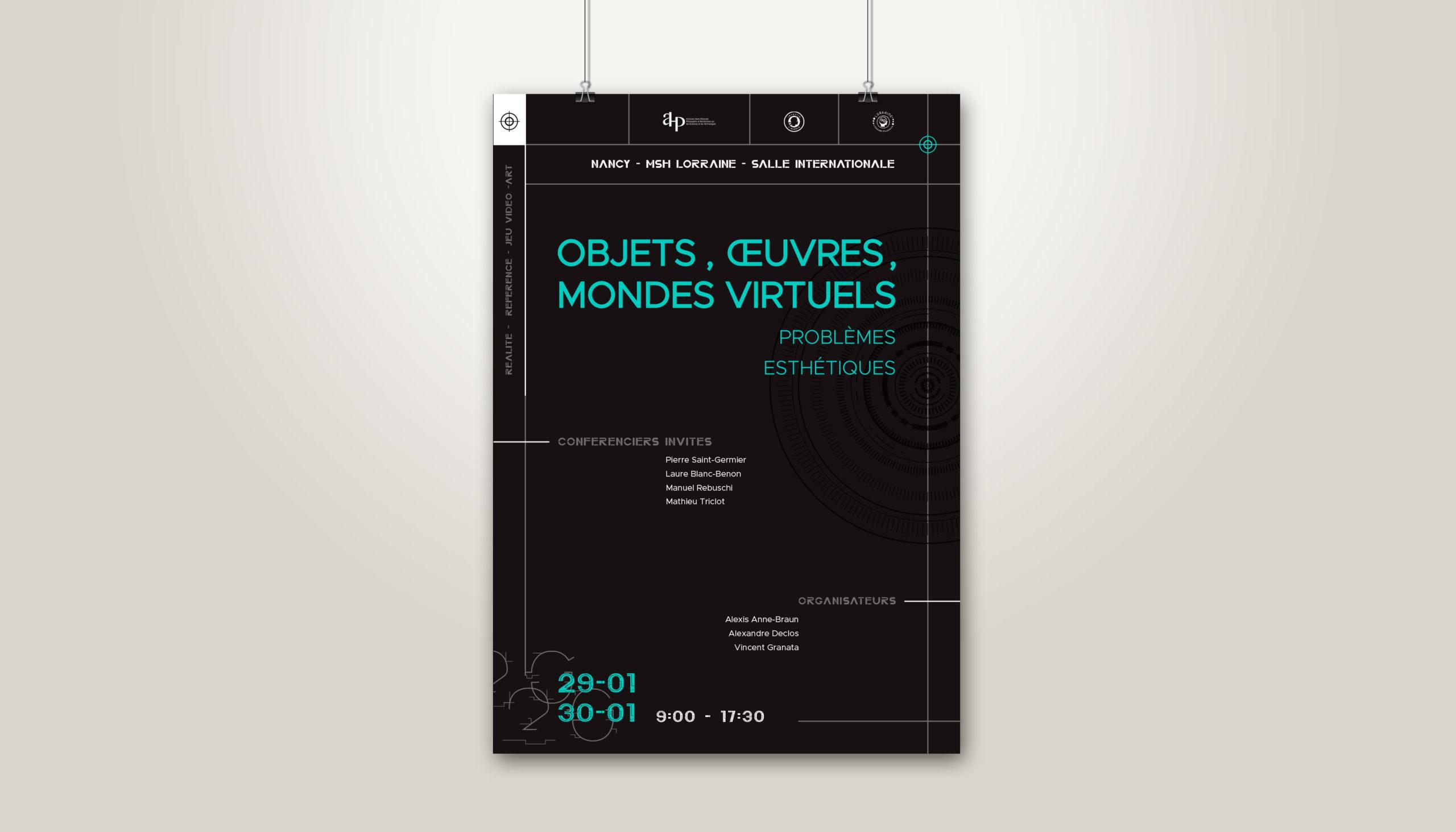 Léa Candat _ Graphiste - Webdesigner _ Nancy _ Projets _ Graphisme _  Affiche _ Mondes virtuels