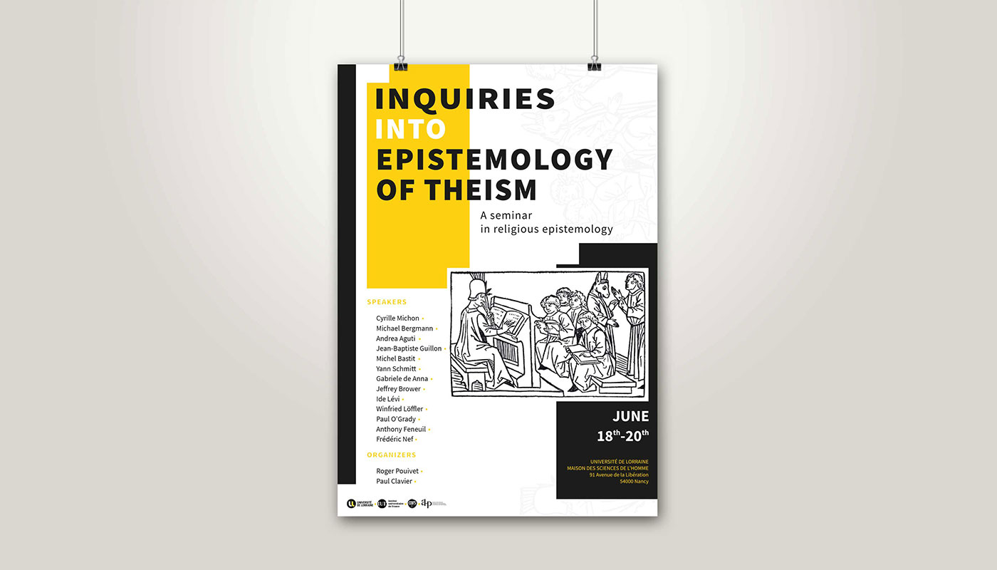 Léa Candat _ Graphiste - Webdesigner _ Nancy _ Projets _ Graphisme _ Affiche _ Inquiries into epistemology of theism