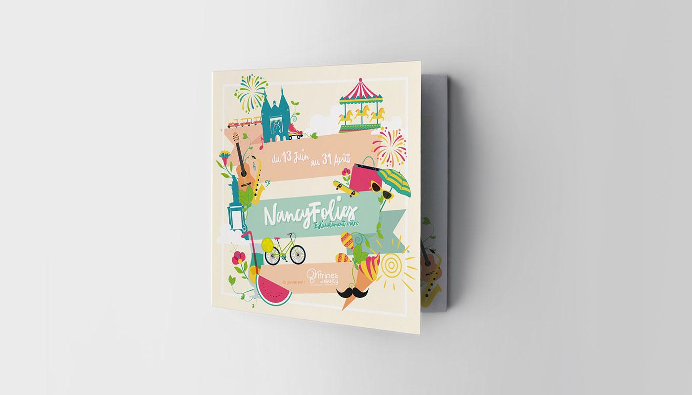 Léa Candat _ Graphiste - Webdesigner _ Nancy _ Projets _ Graphisme _ Brochure _ NancyFolies