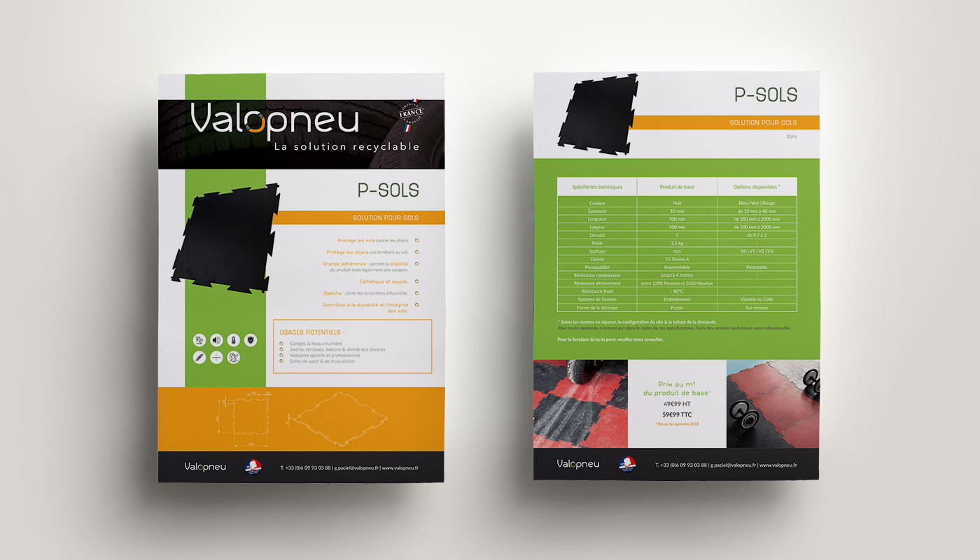 Léa Candat _ Graphiste - Webdesigner _ Nancy _ Projets _ Graphisme _ Fiche technique _ Valopneu