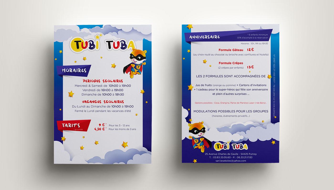 Léa Candat _ Graphiste - Webdesigner _ Nancy _ Projets _ Graphisme _ Flyer _ TubiTuba