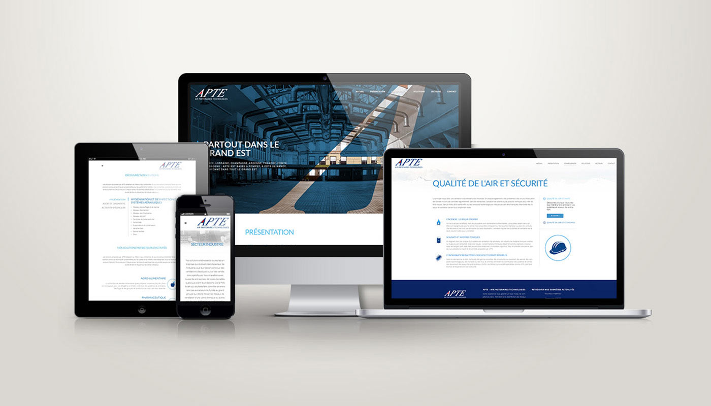 Léa Candat _ Graphiste - Webdesigner _ Nancy _ Projets _ Web _ Site _ APTE
